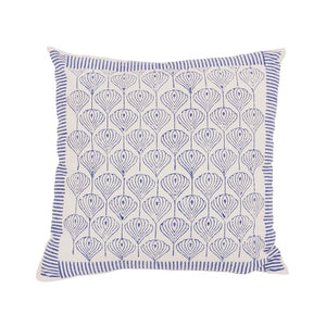 Patterned onion print cushion - medium