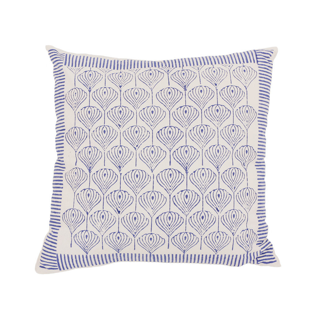 Patterned block print cushion cover