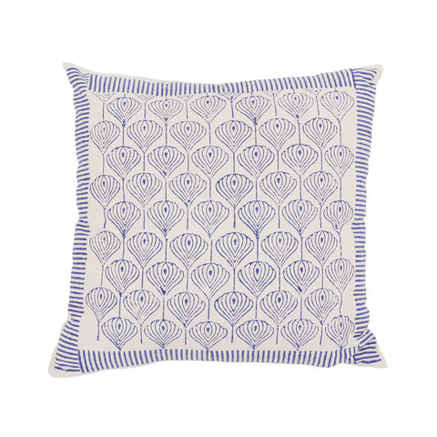 Patterned block print cushion small