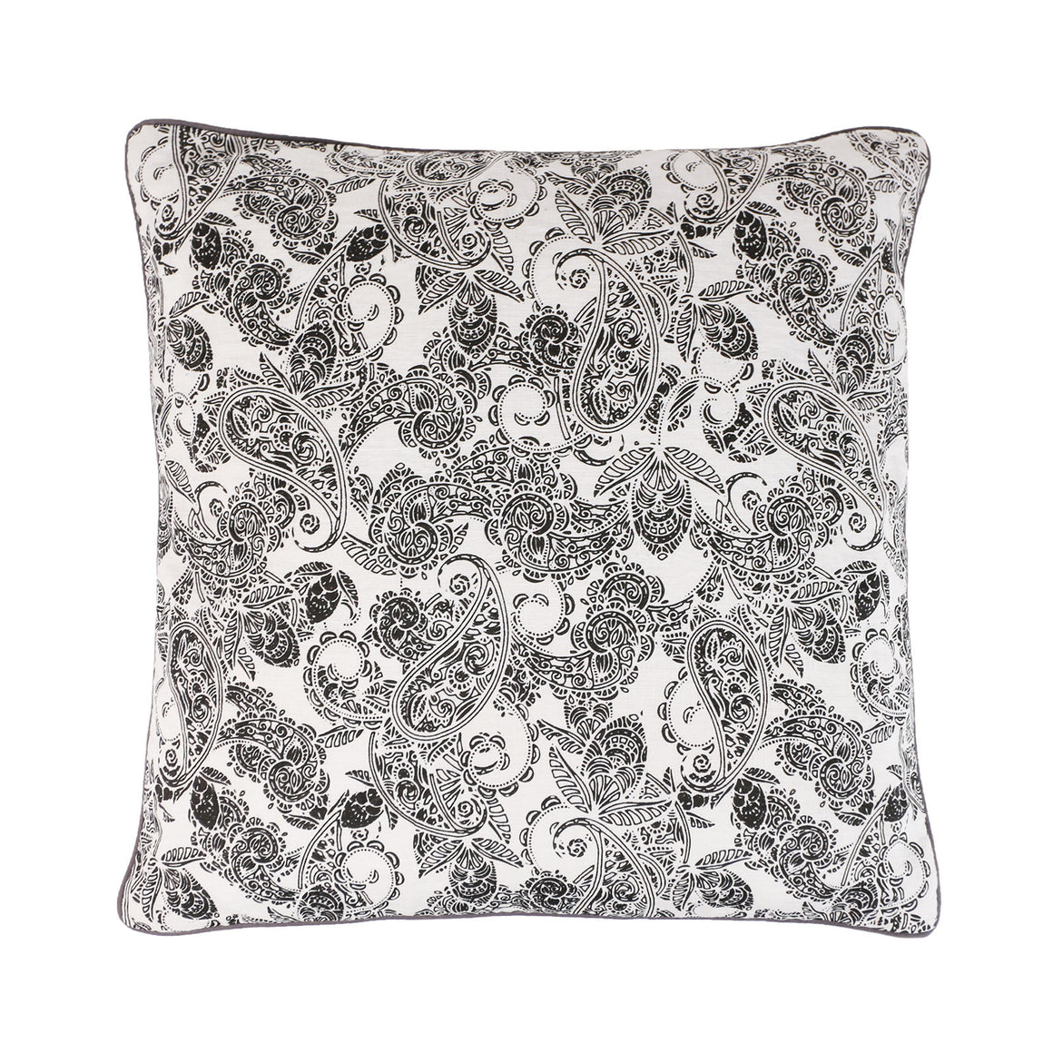 Buy one get one Free - Black and white Linen Paisley
