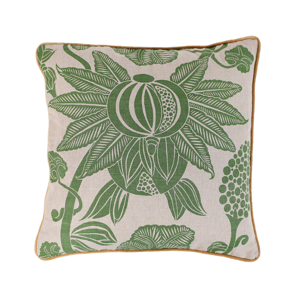 Pomegranate cushion - green