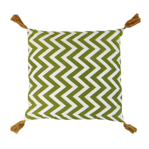 Grass chevron cushion