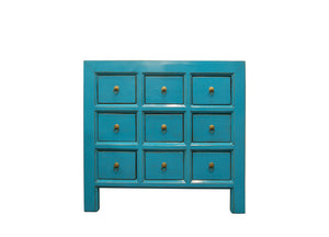 turquoise chest drawers