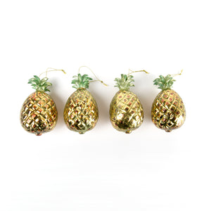 glass pineapple christmas bauble