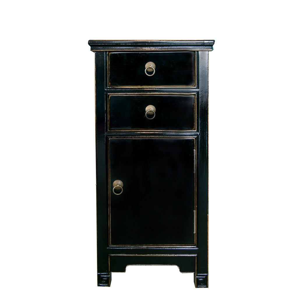 Black painted side cabinet