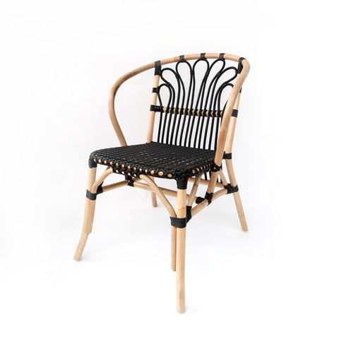 Balcony chair in light wood