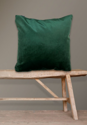 Velvet Hunter Green cushion