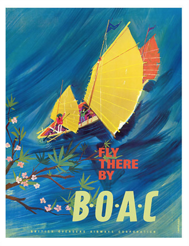 fly there BOAC painting