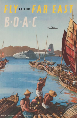 Fly To The Far East BOAC Painting