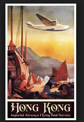 Hong Kong Imperial Airways painting