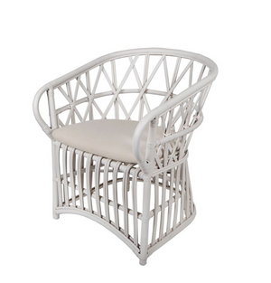 Verandah easy chair with white finish
