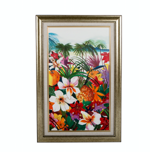 tropical floral artwork