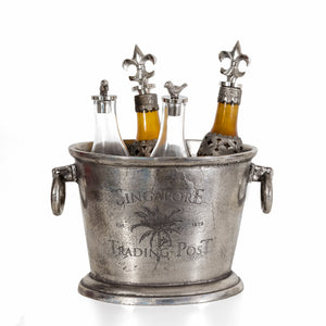 singapore trading post silver ice bucket