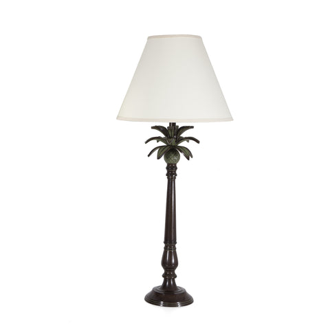 large black metal pineapple lamp