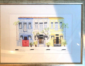Framed picture of a group of shop houses