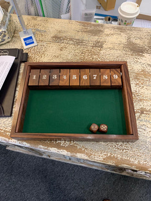 Shut the box - traditional bar game