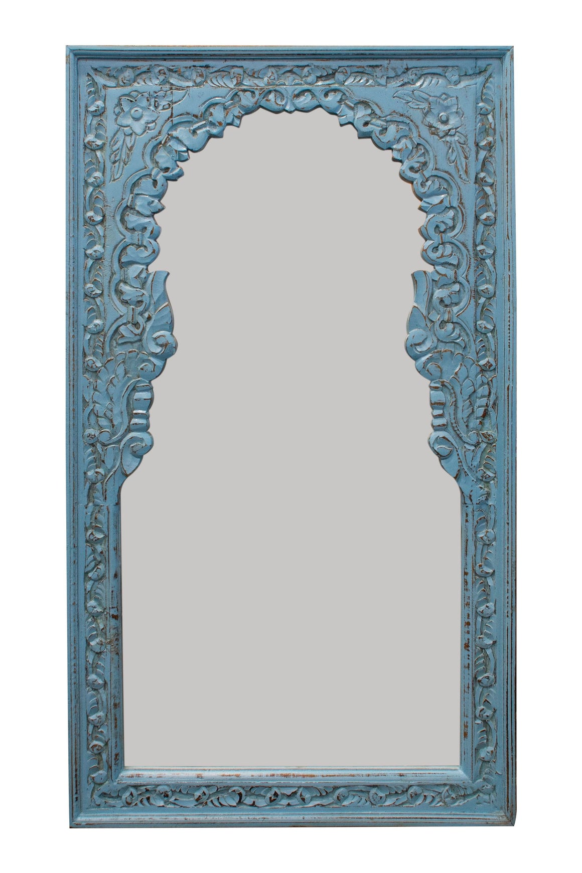Blue North Indian mirror