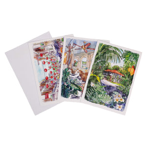 Set of 3 blank cards with envelopes