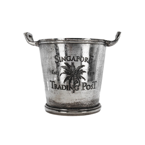small silver ice bucket singapore trading post