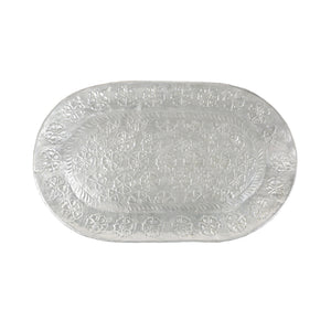 Oval tin tray - floral design