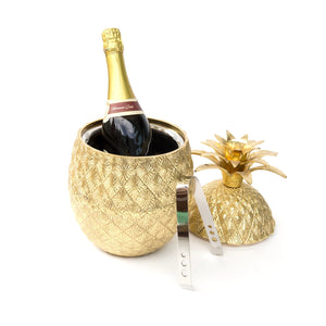 Vintage Style Brass Pineapple Ice Bucket