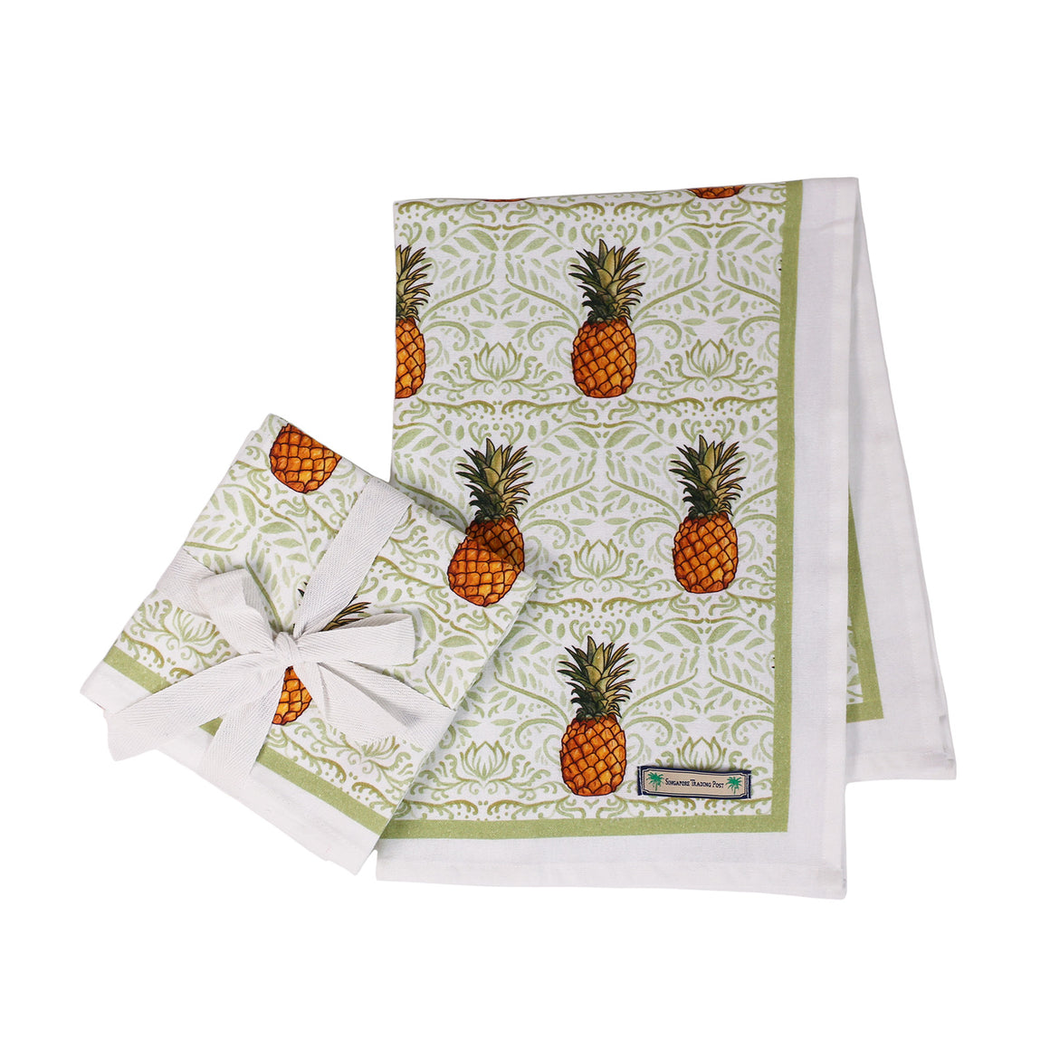 Pineapple tea towels - set of 2