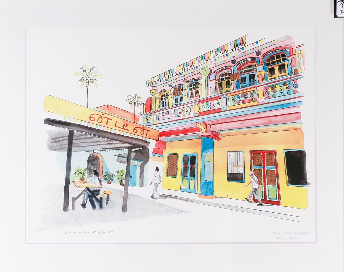 Unframed print of Little India, Singapore
