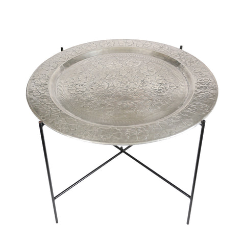 Large round tin tray
