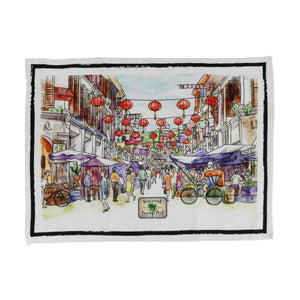 china town tea towel