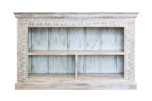 White Indian sideboard with shelves