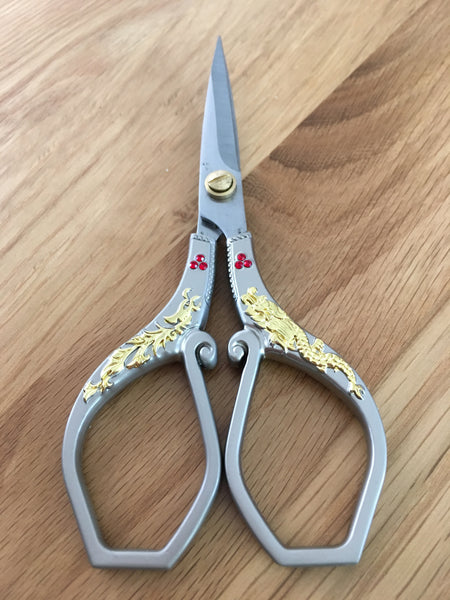 "6"" decorated tailor scissors - etui coterie"