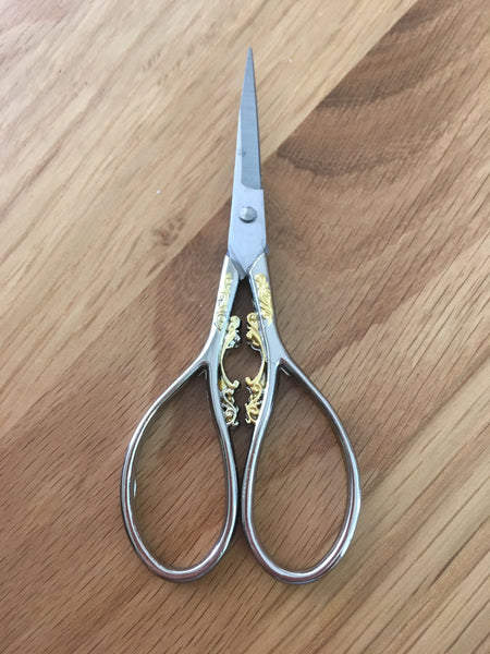 "4.5"" embroidery scissors with gilt focal - etui coterie"