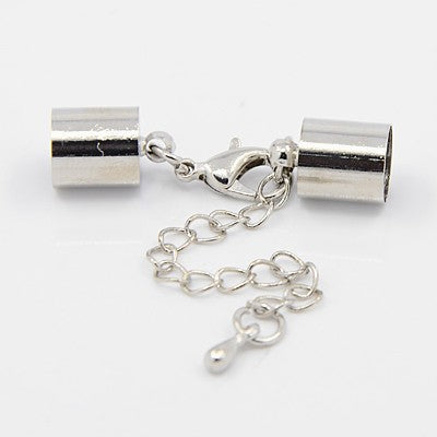 Cord Ends with Lobster Claw Clasps and Extender Chains fr 4mm cord - etui coterie