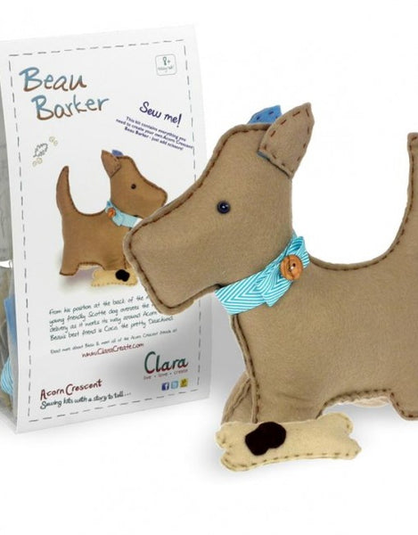 Beau Barker Felt Scottie Dog Sewing Kit - etui coterie