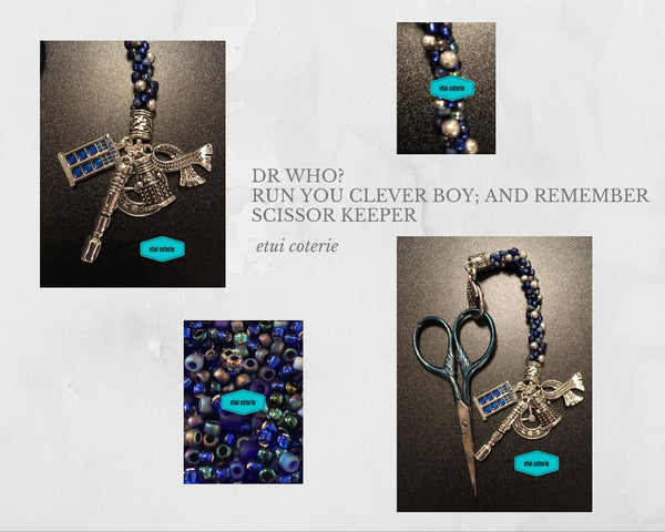Dr Who? - Run You Clever Boy; and Remember - Scissor Keeper / Bag Charm - etui coterie