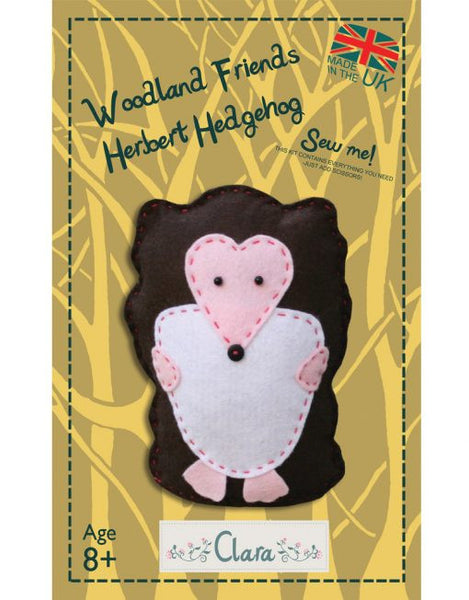 Woodland Herbert Hedgehog – Felt Sewing Kit - etui coterie