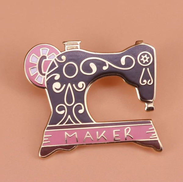 Sewing Machine Maker Pin Badge