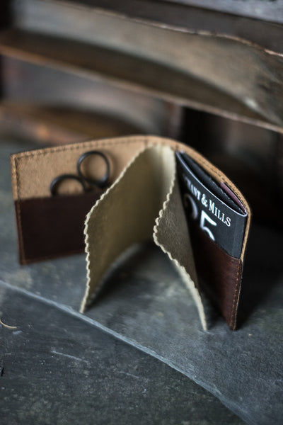 Leather Needle Wallet - etui coterie