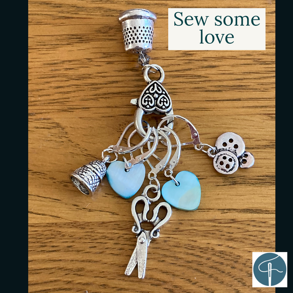 Sew some love stitch markers