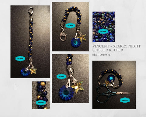 Vincent - Starry, Starry Night Scissor Keeper / Bag Charm