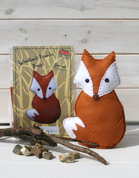 Woodland Foxy – Felt Sewing Kit - etui coterie