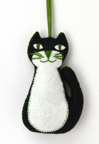 Black Cat Mini Felt Craft Kit - etui coterie