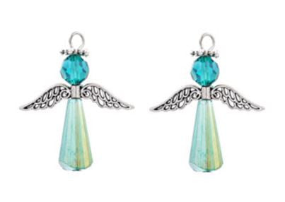 Iridescent Angel Charms - etui coterie