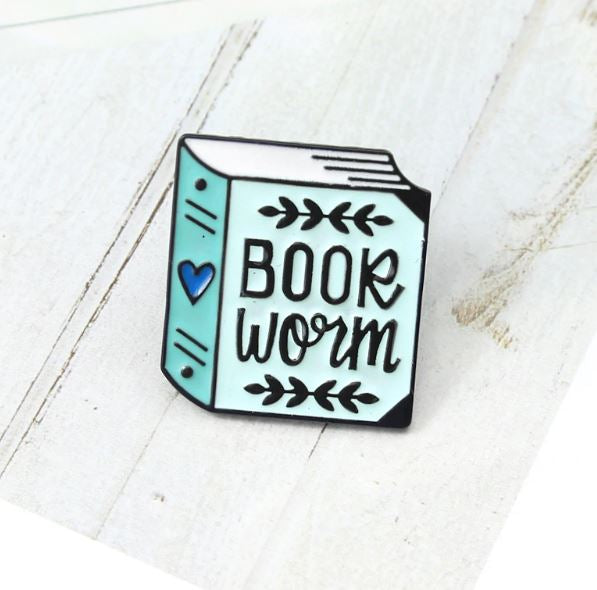 Bookworm Pin Badge