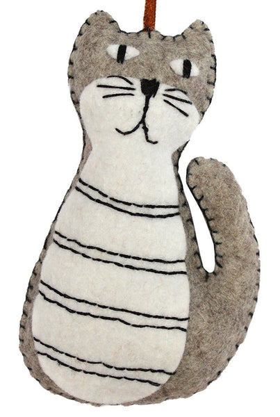 Grey Cat Mini Felt Craft Kit - etui coterie