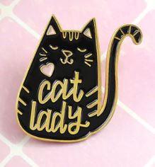 Crazy Cat Lady Pin Badge