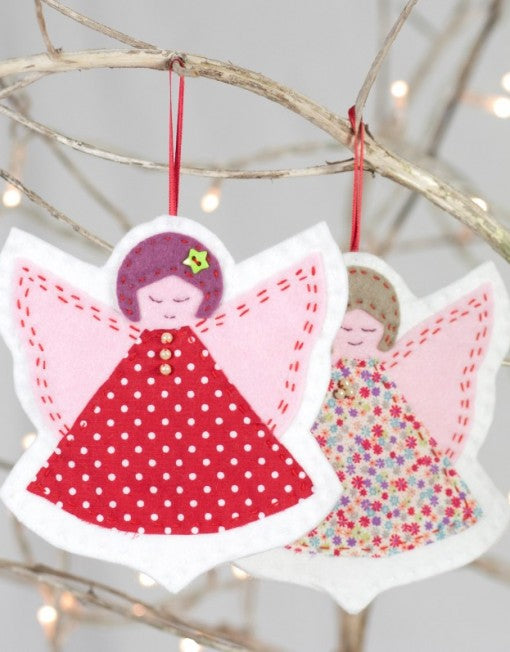 Christmas Angels Duo – Felt Sewing Kit - etui coterie