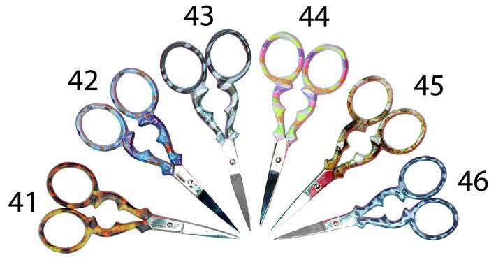 "3.5"" coloured handled embroidery scissors"