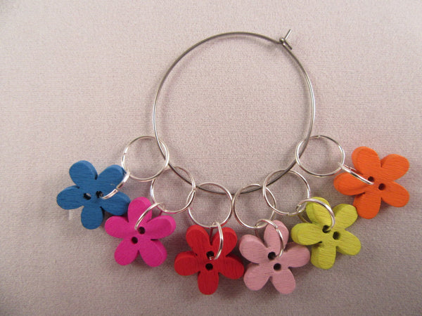 Flower Button Stitch Markers - etui coterie