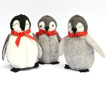 Baby Penguins Felt Craft Kit - etui coterie
